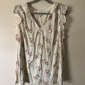 Lucky brand floral top 2x